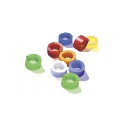 Bague d'identification  3mm 60 bagues  7 couleurs assorties